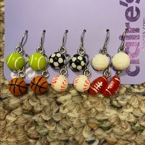 Claire's Sports Earrings